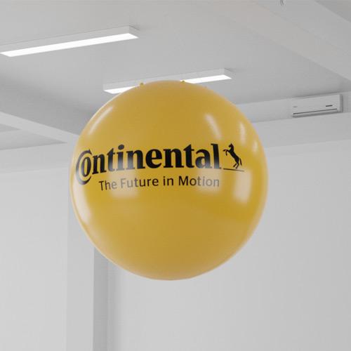 3D mock-up af kæmpe ballon til Continental.
