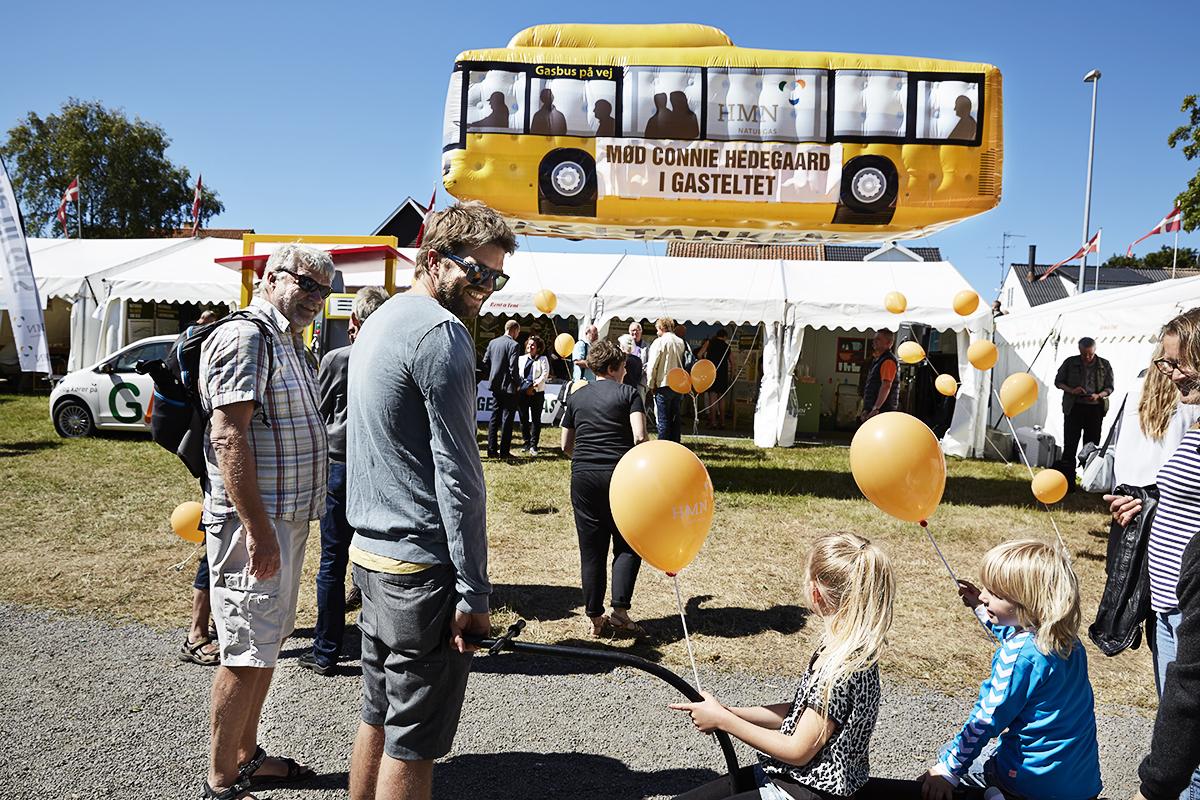 Ballonreklamer - HMN Naturgas bus