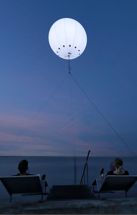 Heliumballon med lys