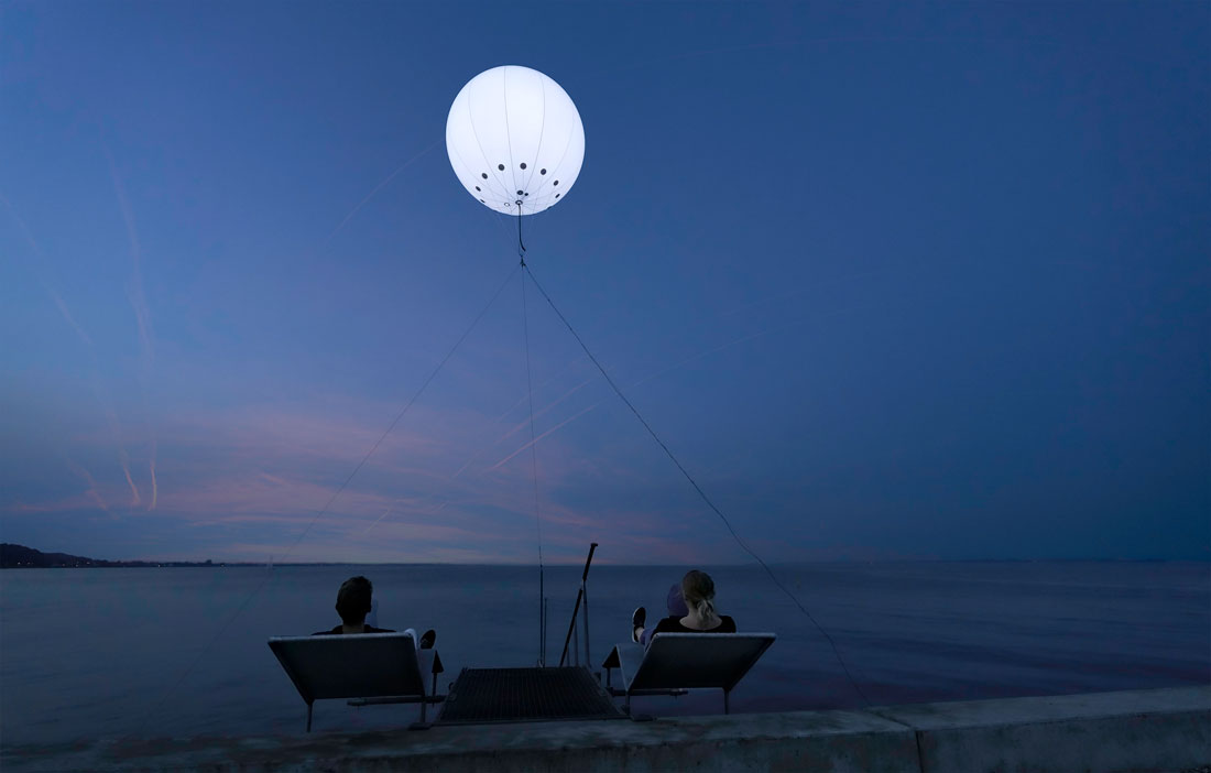 heliumballon med lys ved Aarhus Festuge