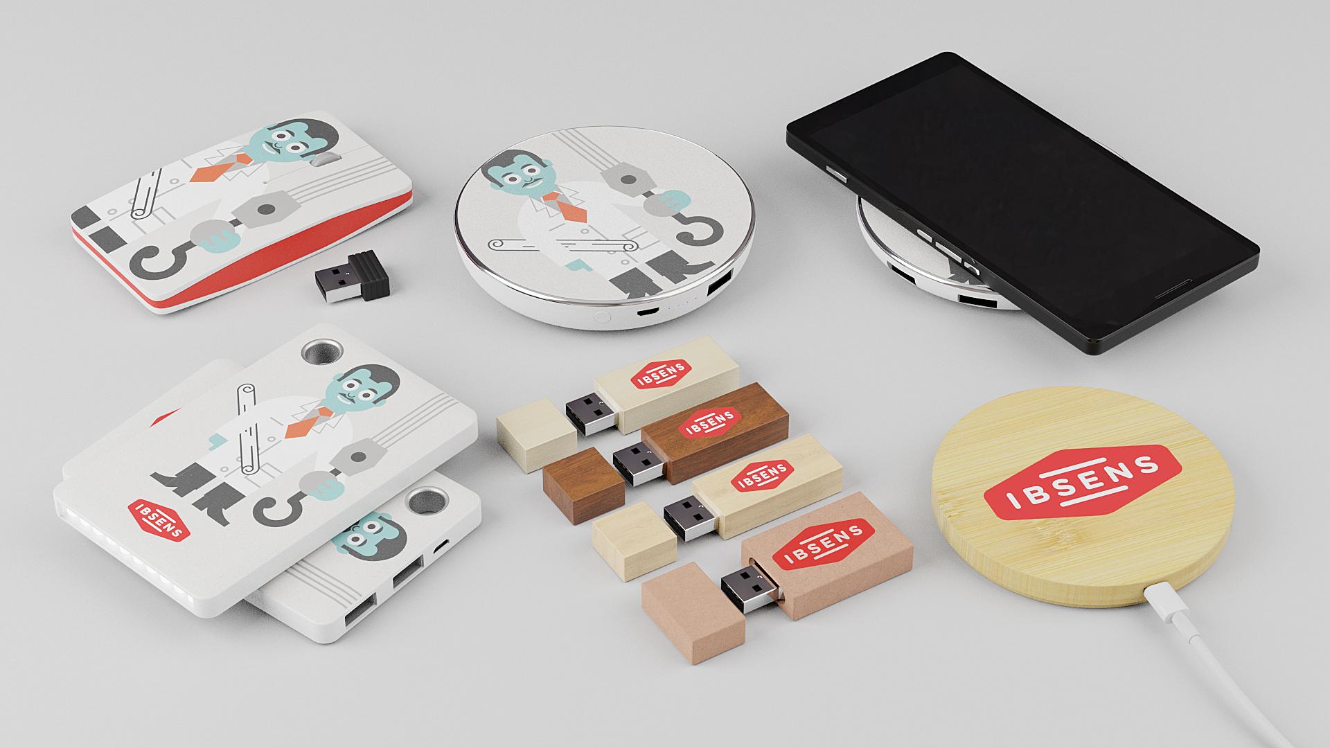 Elektroniske firmagaver med logo