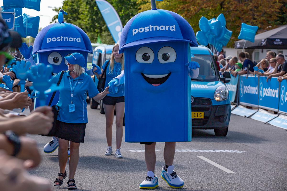 PostNord maskot er blikfang ved PostNord Danmark Rundt 2018