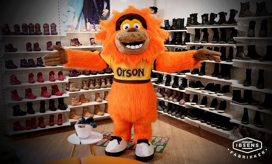 Orson, maskotten i Paw Skos børnekoncept